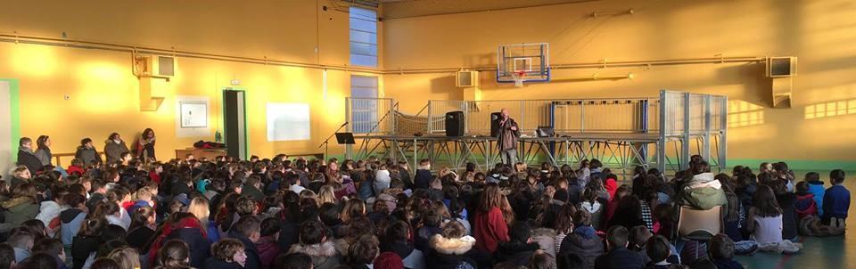 Des collégiens du Groupe scolaire St Paul à Roanne découvrent Joseph le 22 janvier 2019