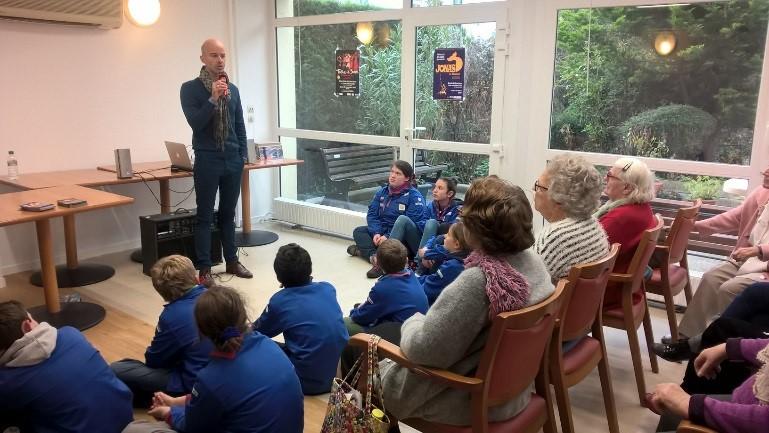 Tobie et Sarra raconté à des scouts et personnes âgées d'un Foyer logement à Rueil-Malmaison (92)